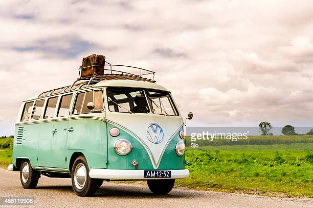 volkswagen transporter t1 - vintage car stock pictures, royalty-free photos & images