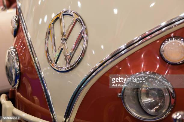 Volkswagen vehicle on display at the Essen Motor Show on December 1 2017 in Essen Germany The Essen Motor show is celebrating its 50th edition