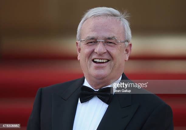 Volkswgaen Group CEO Martin Winterkorn arrives for the state banquet in honour of Queen Elizabeth II at Schloss Bellevue palace on the second of the...