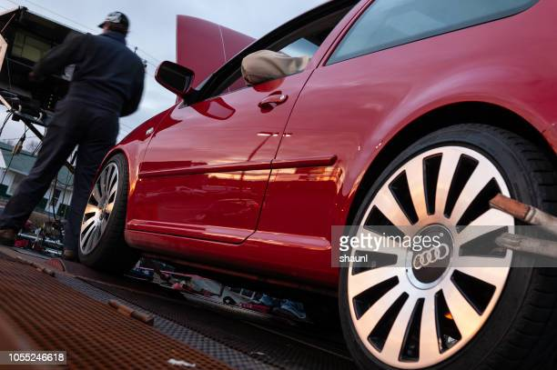 volkwagen dyno testing - volkswagen golf gti stock photos and pictures