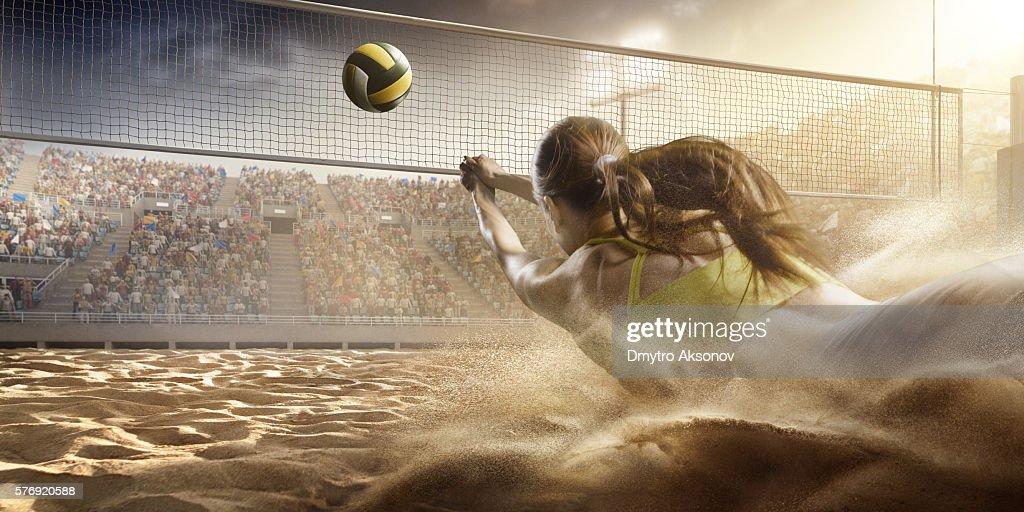 Volleyball: Spielerin in Aktion : Stock-Foto