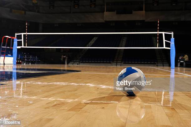 Volleyball in an empty gym