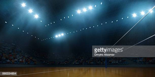 volleyball indoor stadium - basketball stadium stock photos and pictures