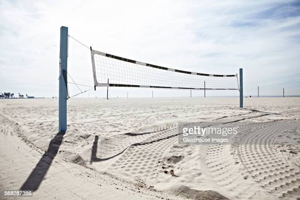 Volleyball Net on Beach, Venice Beach, California, USA