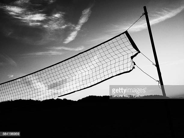 Volleyball Net On Field Against Sky