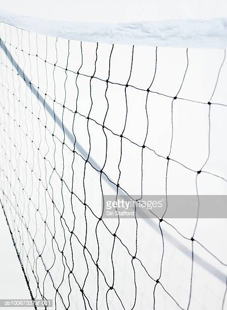 Volleyball net on white background