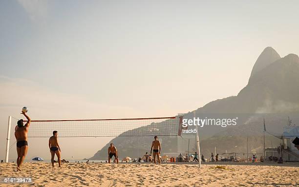 Volleyball on Leblon beach, Rio de Janeiro, Brazil