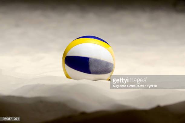 volleyball on sand at beach - beachvolleybal stockfoto's en -beelden