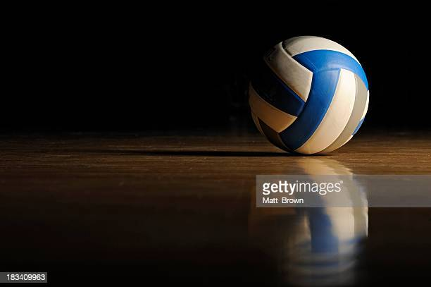 volleyball on wood floor - volleyball stock pictures, royalty-free photos & images
