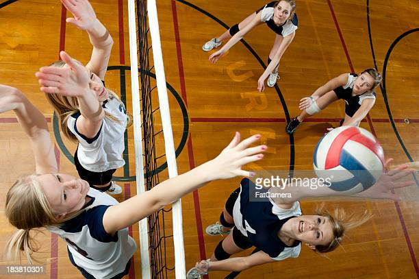 volleyball - volleyball mannschaftssport stock-fotos und bilder