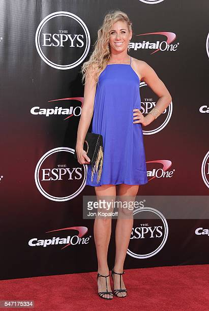 Volleyball player April Ross arrives at The 2016 ESPYS at Microsoft Theater on July 13 2016 in Los Angeles California