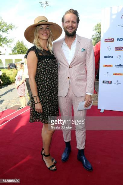 Volleyball player Julius Brink and his wife Verena Brink during the media night of the CHIO 2017 on July 18 2017 in Aachen Germany