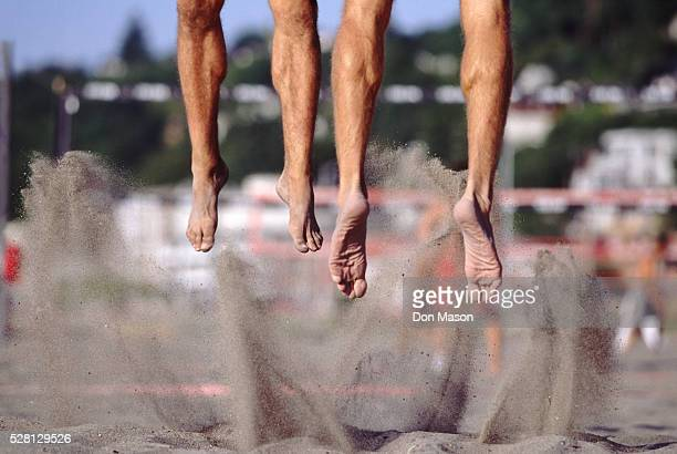Volleyball Players' Feet