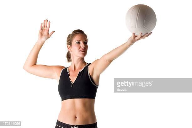volleyball-service - damen volleyball stock-fotos und bilder