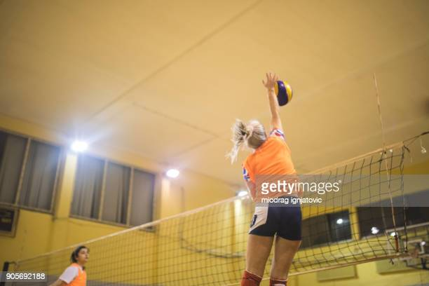 volleyball spiking - high school volleyball stock photos and pictures