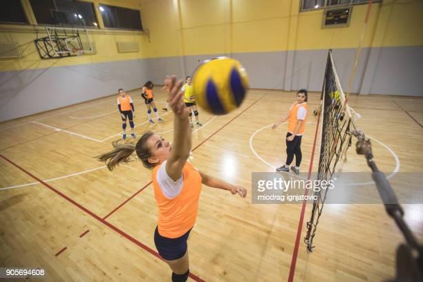 Volleyball spiking