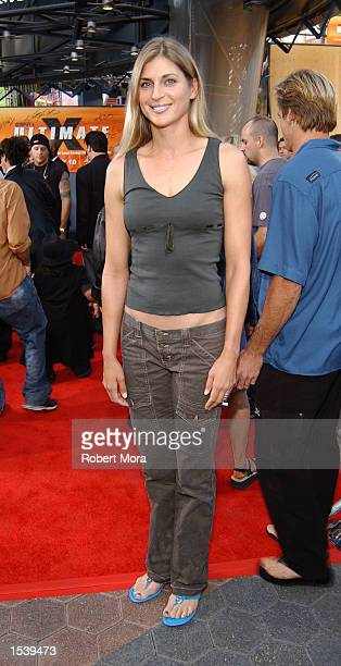 Volleyball star Gabrielle Reece attends ESPN's Ultimate X movie premiere May 6, 2002 in Universal City, CA.