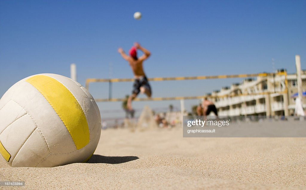 Vollyball Spike : Stock Photo