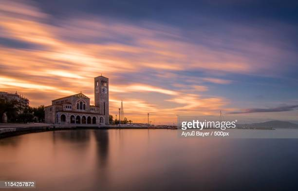volos sunrise - volos stock pictures, royalty-free photos & images
