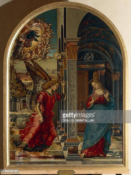 Volterra Pinacoteca The Annunciation by Luca Signorelli tempera on panel 282x205 cm
