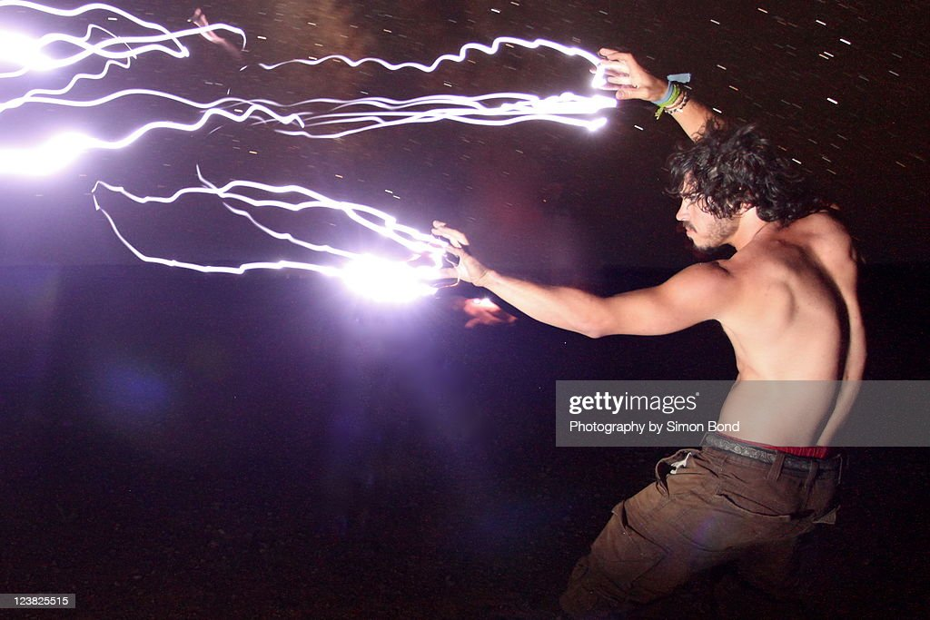 Volts in his veins : Stock Photo
