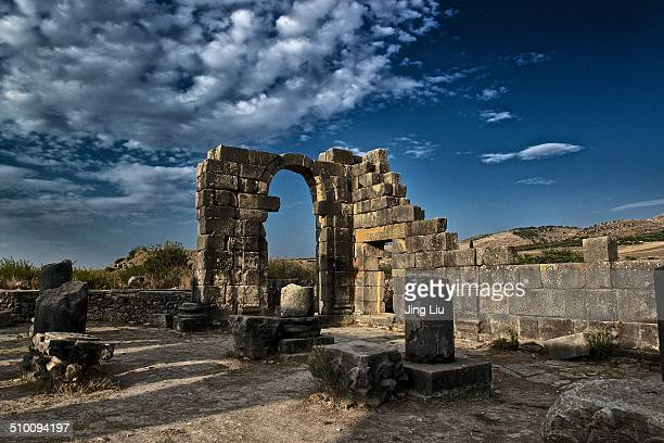 Volubilis is a partly excavated Roman city in Morocco situated near Meknes between Fes and Rabat Built in a fertile agricultural area it was...