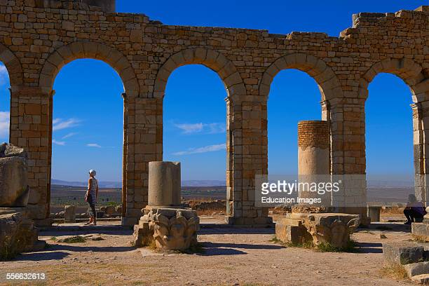 Volubilis Mulay Idris Meknes Roman ruins of Volubilis UNESCO World Heritage Site Morocco Maghreb North Africa