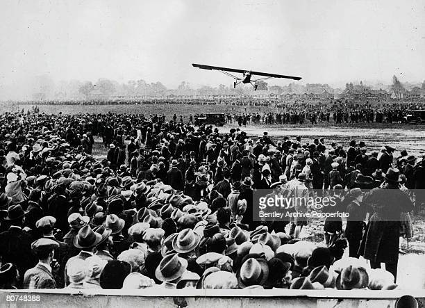 Volume 1 Page 44 Picture 1 Early Aviation American aviator Charles Lindbergh arrives at Croydon Aerodrome London after a flight from Evere Aerodrome...