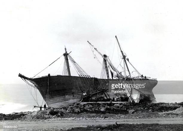 Page 46 Picture 3 Shipping The wreckage of the sailing ship Noel after colliding with the rocks at Bangor Wales 1887