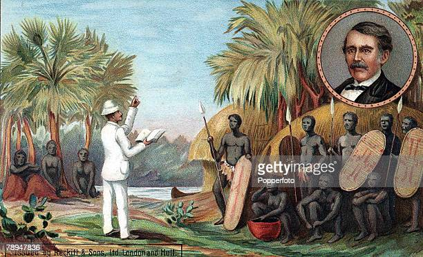 Volume 2 Page 107 Pic 2 A colour illustration of the Scottish missionary and traveller Dr David Livingstone whose most famous work took place in...
