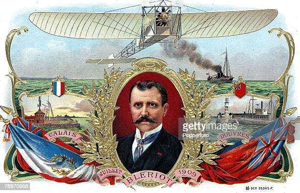 Volume 2 Page 107 Picture 10 July 1909 An Illustration of French aviator and aeronautical engineer Louis Bleriot's cross channel flight he was the...