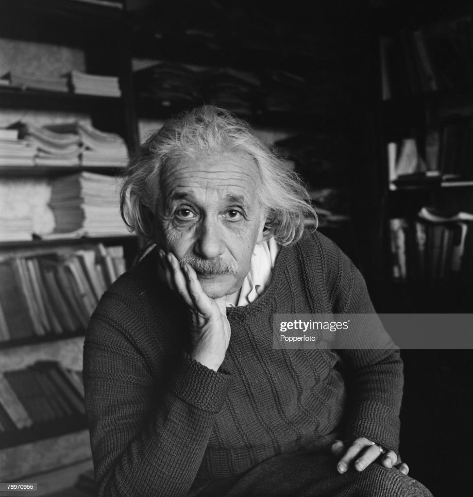 Volume 2. Page 114. Picture 6. Portrait of German born US physicist and mathematician Albert Einstein. : News Photo