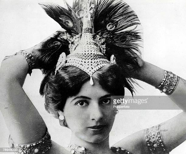 Volume 2 Page 117 Picture 7 Mata Hari Alleged Dutch spy in World War One and dancer was shot in Paris France on a charge of espionage