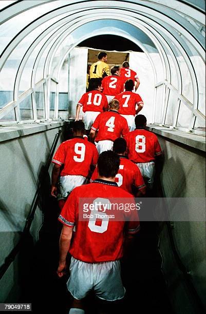 12 Picture 1 Sport Football 1994 World Cup Qualifier Bologna Italy 17th November San Marino 1 v England 7 A rear view of the England players in the...