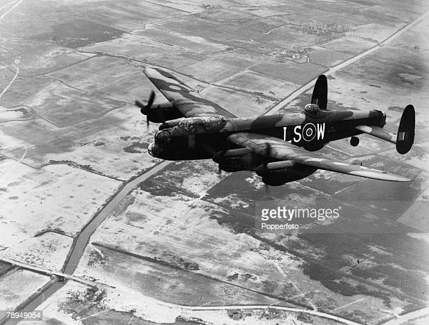 Volume 2 Page 126 Picture 8 World War Two A view of a British Lancaster bomber plane in flight