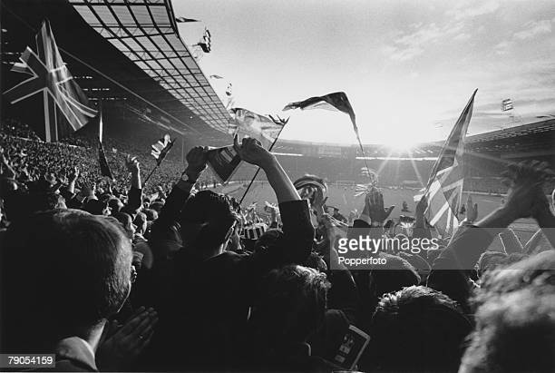 Volume 2, Page 17, Pic 2, Football, 1966 World Cup Final, Wembley Stadium, England 4 v West Germany 2, 30th July Fans at Wembley Stadium before the...