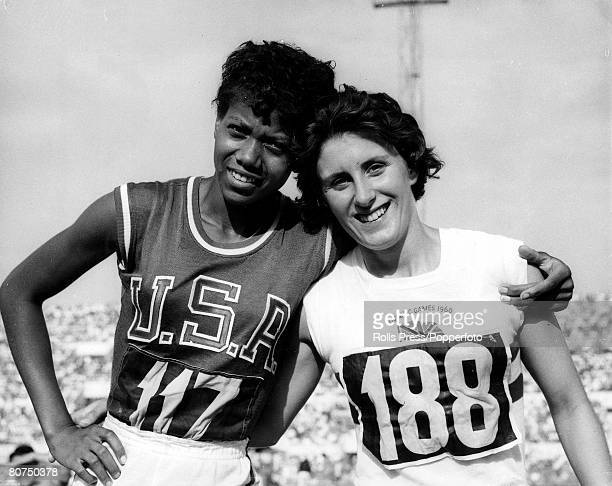 Volume 2 Page 24 Picture 11 Athletics Track Field 1960 Olympic Games Rome Italy 2nd September 1960 Women's 100 metre final USA's Wilma Rudolph who...