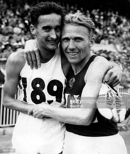 Volume 2 Page 24 Picture 9 Athletics Track Field 1956 Olympic Games Melbourne Australia 3rd December 1956000 metres Final Vladimir Kuc of Russia and...