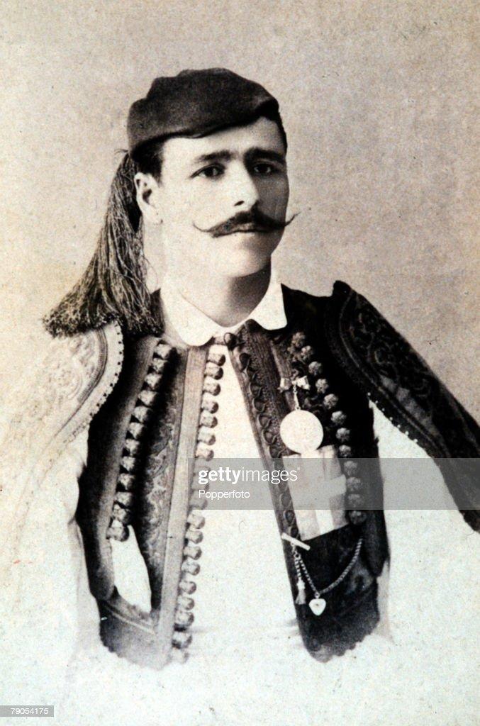 Volume 2, Page 25, Picture,4, 10228649, Sport, Athens Olympics, 1896, Spyridon Louis, Greek marathon champion