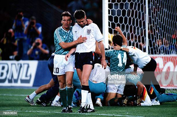 Volume 2 Page 32 Picture 10236259 Sport Football World cup semifinal Turin Italy England 1 v West Germany 1 England's Chris Waddle is consoled by...