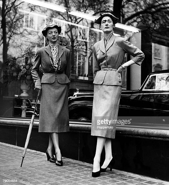 Volume 2 Page 46Pic 6 London Two models wear Day Clothes designed by Londons famous tailleur Digby Morton