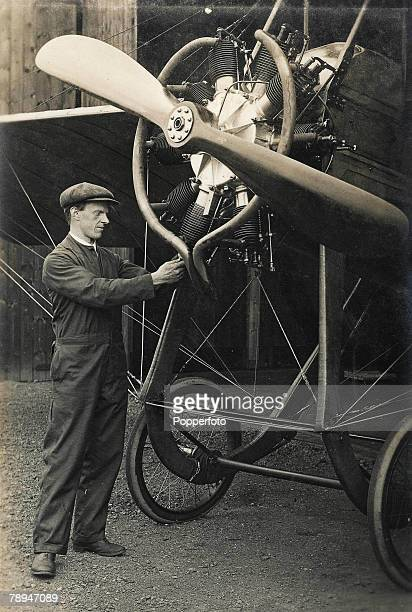 Volume 2 Page 67 Picture 1 Aviation Hendon England WLBrock with his 100 Horsepower Deperdussin aircraft
