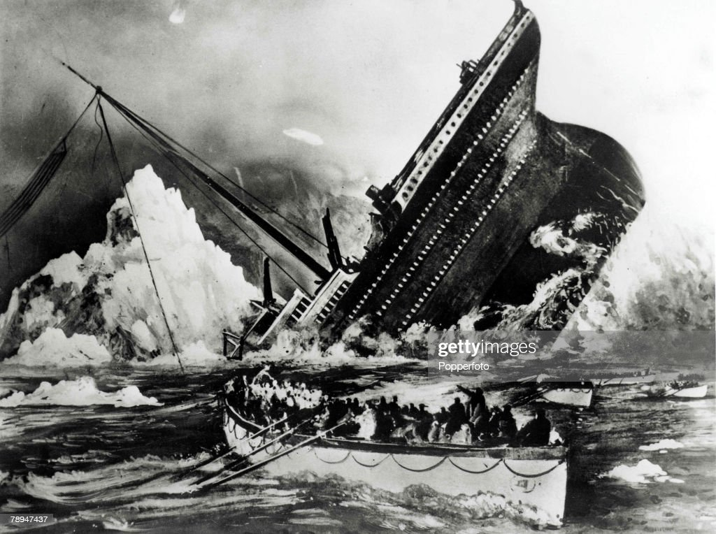 Volume 2, Page 69, Picture 7. Illustration, showing the sinking of the Titanic. : News Photo