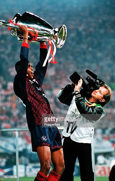 Volume 2 Page 7 Picture number Sport Football European Cup Final Vienna Austria 24th May Ajax 1 v AC Milan 0 Ajax's Nwankwo Kanu holds up the...