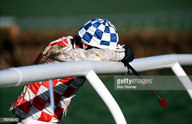 Volume 2 Page 8 picture 5 SPORT Horseracing Cheltenham National Hunt Festival 1990 Graham McCourt after falling on Ryde Again At the Waterford...