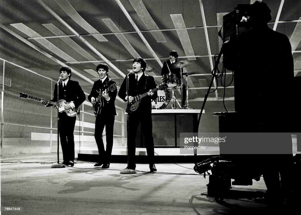 "Volume 2, Page 85, Picture 6. The Beatles, America, February 1964. The Beatles perform on the ""Ed Sullivan show"". : News Photo"