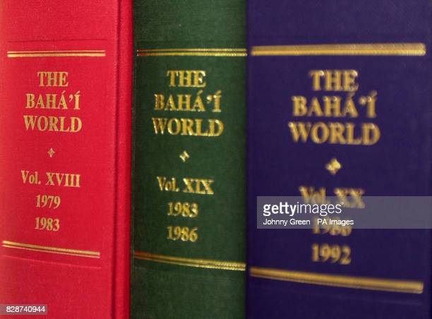 Volumes of the Baha'i World at the home of the Secretary of the National Spiritual Assembly of the Baha'is of the United Kingdom Barney Leith in...