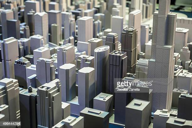 Volumetric model of the city of Chicago