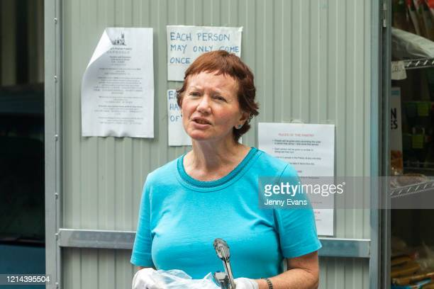 Volunteer Kerin Brown looks on at St Paul's Anglican Church in Burwood on March 24 2020 in Sydney Australia The Parish Pantry provides food for the...