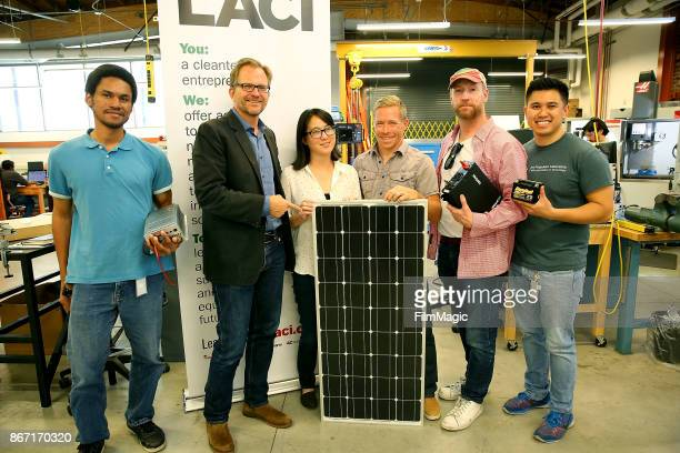 LACI volunteer Lauritz David Los Angeles Cleantech Incubator CEO Matt Petersen Advanced Prototyping Center Director Kay Yang Robert Metcalf Matt...